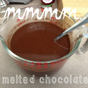 mmm melted chocolate